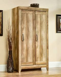 Sauder Adept Wide Storage Cabinet - Craftsman Oak Finish ~ Model Number: 418141  Retails over $350!