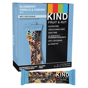 Kind Energy Bars Blueberry Vaniila Cashew. 12 - 1.4 Oz Bars Per Box X 2 boxes = 24 Total Bars!