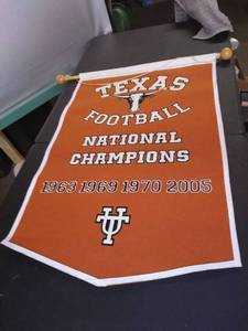 Longhorns Football Nationals Champion's Banner 1963 1969 1970 2005