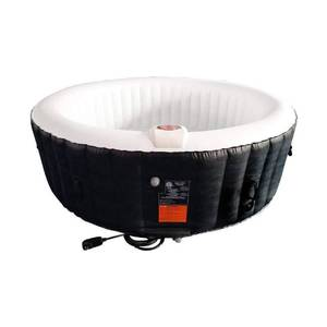 ALEKO Round 265-gallon Inflatable 6-person Hot Tub with Cover- Retail:$713.99