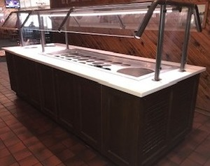 "Wells Commercial 120"" Salad Bar Refrigerated Unit with Built in Compressor"