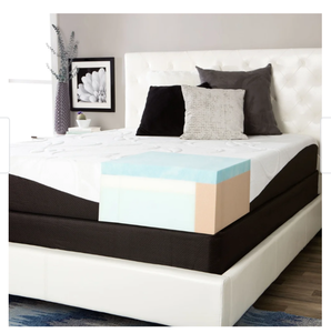 ComforPedic from Beautyrest Choose Your off Comfort 10-inch Gel Memory Foam Mattress Set - White- Retail:$1156.49