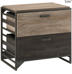 Refinery 2 Drawer Lateral File Cabinet in Rustic Gray - Engineered Wood