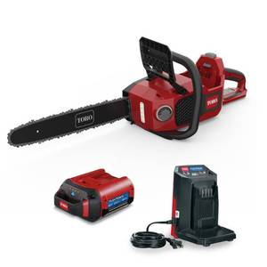 Toro Flex-Force 16 in. 60-Volt Max Lithium-Ion Battery Electric Cordless Chainsaw, 2.5 Ah Battery and Charger Included