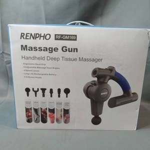 RENPHO R4 Massage Gun with Adjustable Arm, Percussion Massager Gun Handheld Deep Tissue, Muscle Massage Gun for Athletes Sore Muscle and Stiffness Back Pain Recovery