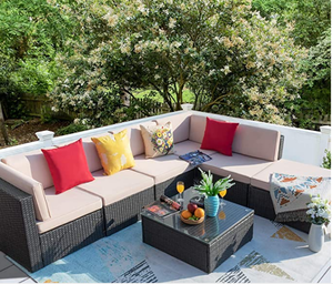 HOMALL 7 PIECE OUTDOOR SECTIONAL SOFA