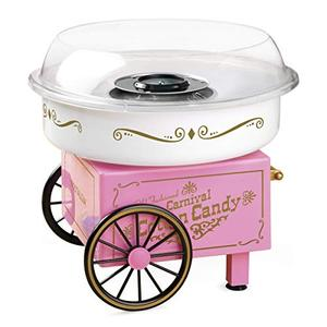 Nostalgia PCM306PK Vintage Hard Free Countertop Cotton Candy Maker, Includes 2 Reusable Cones And Sugar Scoop Pink Item no.1044225