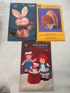 Hallmark Table Centerpieces Vintage, Bunny, Turkey, Raggedy Ann And Andy