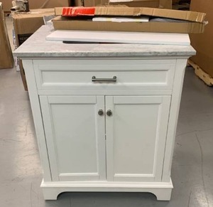 Bathroom Vanity - White, Marble Top