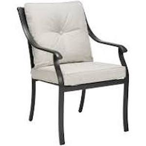 4x Style Selections Elliot Creek Slate Metal Dining Chairs Stationary Gray