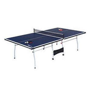 MD Sports Official Size 15mm 4 Piece Indoor Table Tennis, Accessories Included, Blue/White