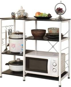 SogesPower Kitchen Baker's Rack 3-Tier with Different Height Microwave Stand Storage Rack