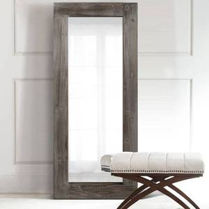 Antique Farmhouse Wooden Frame Full Length Mirror