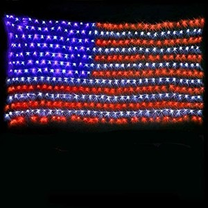 Low Voltage Led Flag Net Light 6.5Ft3.2Ft Waterproof American US String