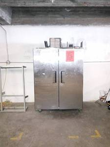 Industrial Kitchen Double Door Reach In Refrigerator- Unknown Condition