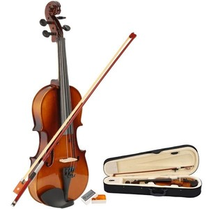 1/2 Acoustic Violin, Case, Bow, Rosin Natural