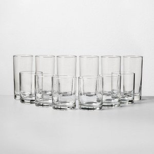 Tall And Short Glass Tumbler Set - (5 Tall Glasses & 6 Small Glasses)