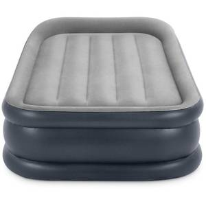 Intex 16.5in Twin Dura-Beam Deluxe Pillow Rest Raised Airbed with QuickFill Plus Internal Pump {Retail $49.99}