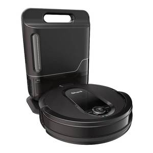 Shark - IQ Robot Self-Empty XL RV1001AE, Wi-Fi Connected, Robot Vacuum with Self-Cleaning Brushroll - Black