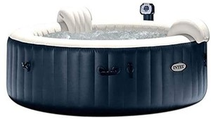 Intex 6 Person Outdoor Portable Inflatable Hot Tub Round