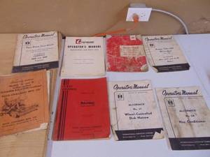Assorted Tractor and Implement Manuals