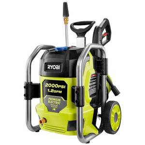 RYOBI 2000 PSI 1.2 GPM Cold Water Electric Pressure Washer