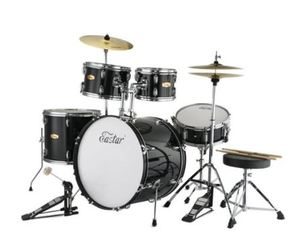 Eastar 22 inch Drum Set Kit Full Size for Adult Junior Teen 5 Piece with Cymbals Stands Stool and Sticks