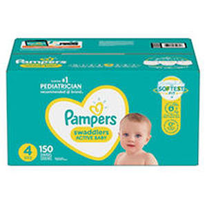 Pampers Swaddlers Disposable Diapers One Month Supply - Size 4 (150ct)