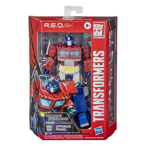 Hasbro Transformers R.e.d. G1 Animated Optimus Prime Figure Red Robot Enhanced