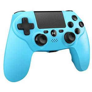 Wireless Controller Compatible with Playstation 4/Pro/Slim/PC with Motion Motors and Audio Function,LED Indicator, USB Cable - University Blue