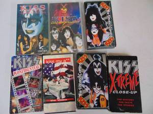 7 - KISS VHS Tapes