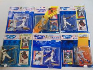 Starting Lineup 1992, 1993,1994,1997 Johny Damon, Ken Griffey Jr., Frank Thomas, Mark Grace