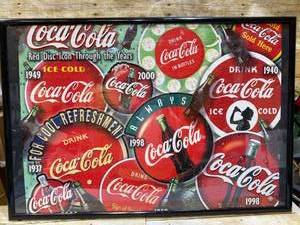 Coke Cola Framed Puzzle Art
