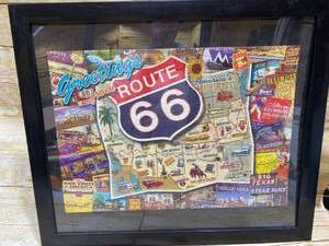 Puzzle Framed Art - Vintage - Cars ROUTE 66