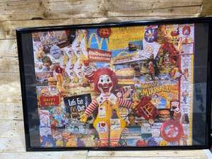 Puzzle Framed Art - Vintage - McDonalds