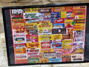Puzzle Framed Art - Vintage - Candy Bars