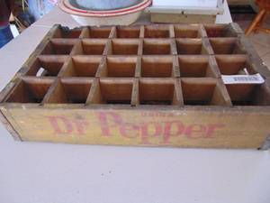 Dr. Pepper Wooden Crate