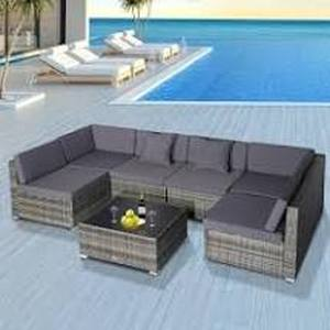 Siara 7-piece Modern Rattan Wicker Modular Sectional Patio Set by Havenside Home - Retail:$679.99 3 boxes