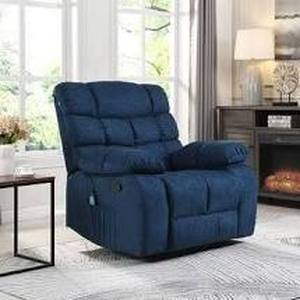 Blackshear indoor pillow tuftrd chair navy blue