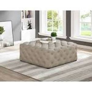 copper Grove bojador 40 in square tufted Ottoman Beige (Linen)- Retail:$393.99