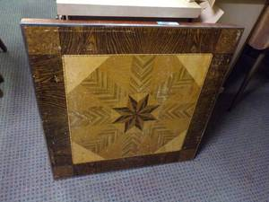 SQUARE INLAID CARD TABLE - NICE