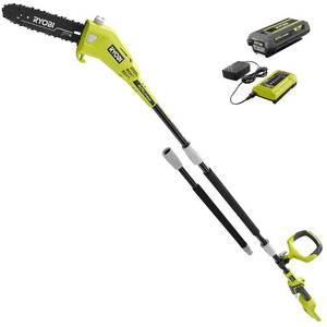 RYOBI 10 in. 40-Volt Lithium-Ion Cordless Battery Pole Saw 2.0 Ah Battery Included Retail: $169.00