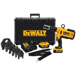 DEWALT 20-Volt MAX Cordless Press Tool, (6) Press Jaws Sized 1/2 in. to 2 in., (2) 20-Volt 4.0Ah Batteries & Charger Retail: $2,999.00