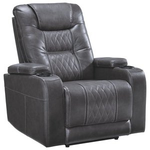 Signature Design by Ashley Gray Composer Power Recliner w/Adjustable Headrest- Retail:$1521.49