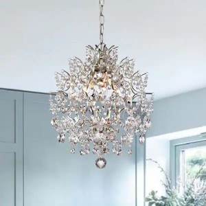 Dalia - Indoor 3-light - Brushed Champagne Crystal Chandelier - Retail: $205.49