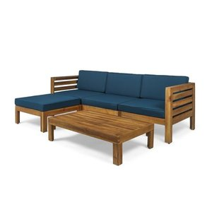 Cambridge Outdoor Wood 5-piece Sofa Set by Christopher Knight Home- Retail:$828.49