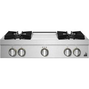 "JennAir - RISE 36"" Built-In Gas Cooktop - Stainless steel"