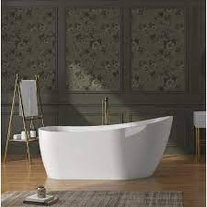 akdy acrylic freestanding bathtub white