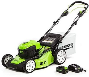 Greenworks 21-Inch 40V Brushless Self-Propelled 3-in-1 Lawn Mower, Includes One Battery and Charger