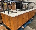 "Wells Commercial 120"" Salad Bar Refrigerated Unit with Compressor (Not Built-in)"